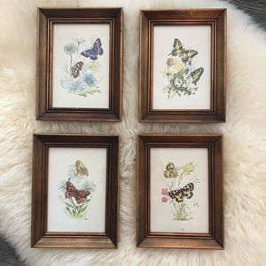 Gold Frame Butterfly Wall Art Prints Boho Decor
